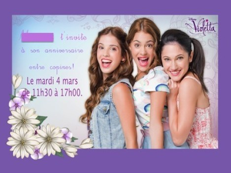 anniversaire thème violetta