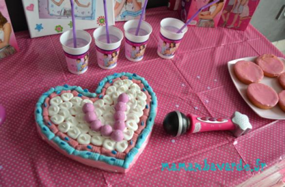 table anniversaire thème violetta