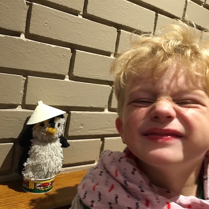Pingouin au restau