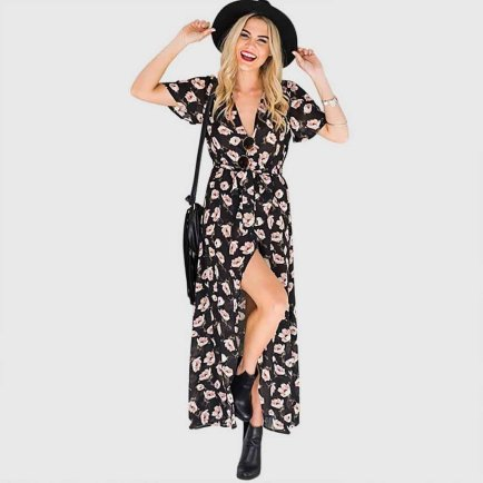 robe longue à fleurs été