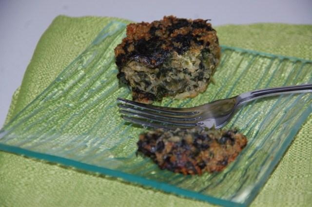 Flan quinoa et épinard