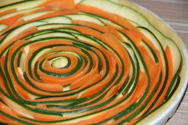 Tarte spirale courgette et carotte