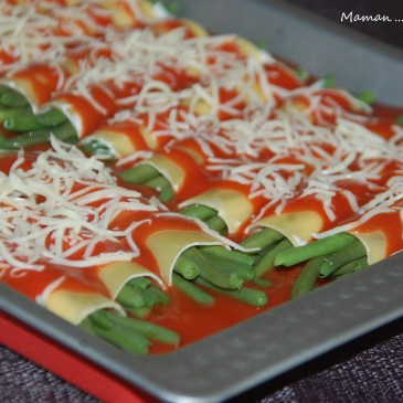 Cannellonis d'haricots verts