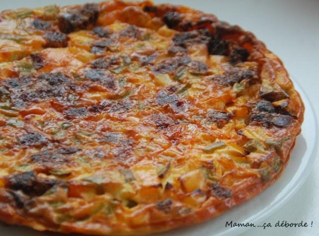 Quiche sans pâte chorizo poivron