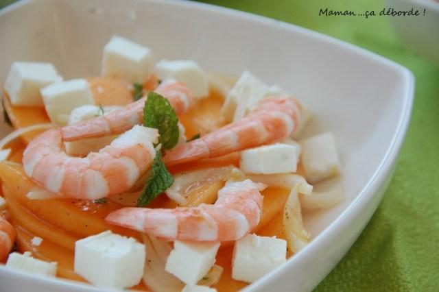 Salade de melon aux crevettes