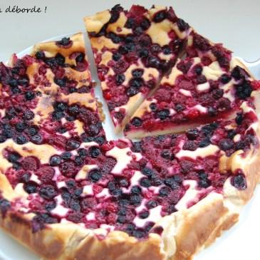 Gâteau au fromage blanc et fruits rouges