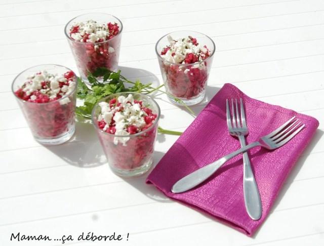 Salade de pâtes au pesto de betterave