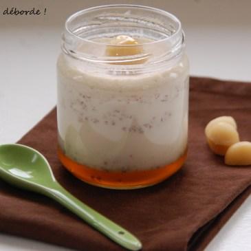 Yaourt noisette miel macadamia