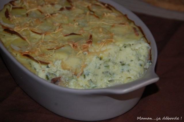 gratin aux courgettes et pommes de terre à la ricotta