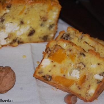 Cake au potiron noix et feta