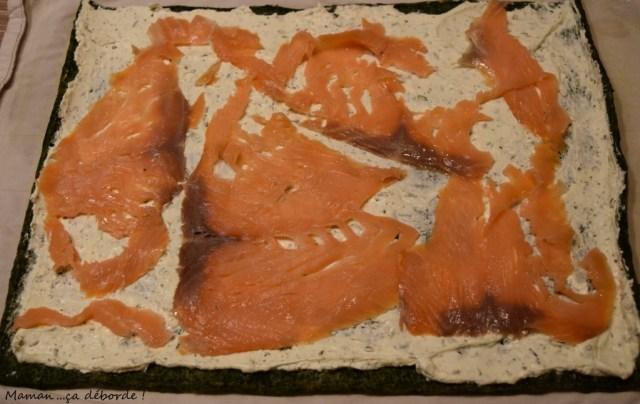 Roulé épinard, boursin et saumon2