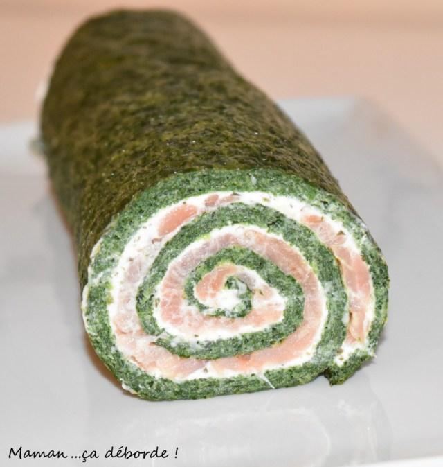 Roulé épinard, boursin et saumon4