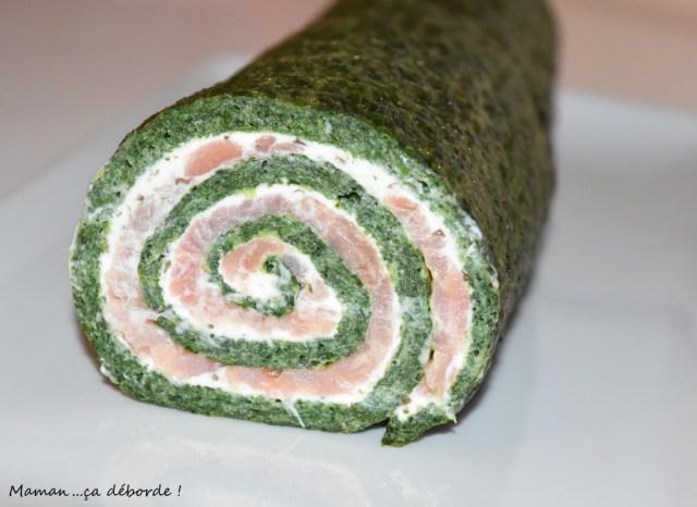 Roulé épinard, boursin et saumon5