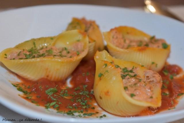 Conchiglioni Farcis 224 La Tomate Et Au Thon Maman 231 A
