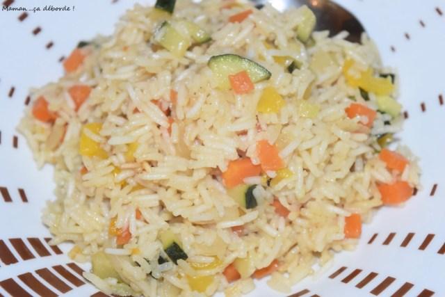 Riz basmati aux légumes