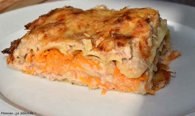Lasagnes au thon et aux carottes