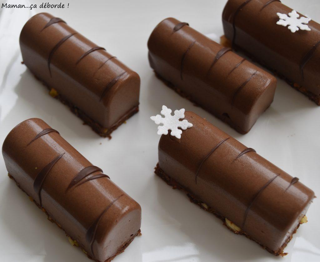 Mini buches au chocolat , Mamança déborde
