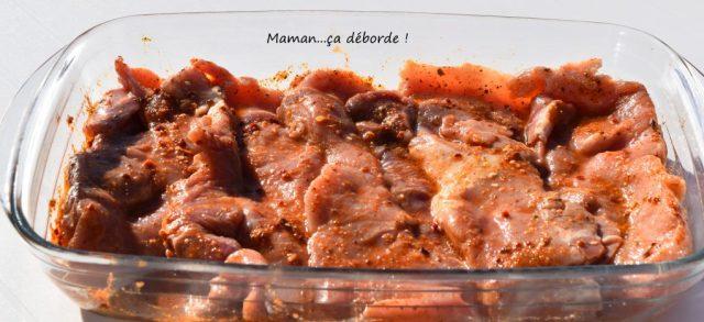 Marinade pour côte de porc