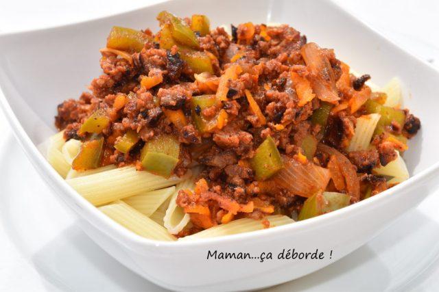 Sauce merguez et poivron (restes de barbecue)