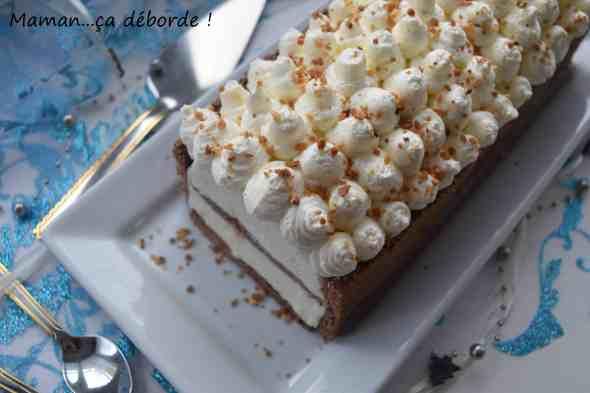 Buche choco, vanille et praliné