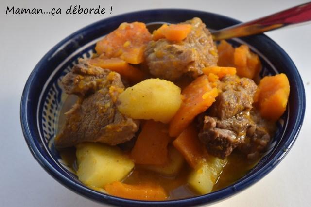 Sauté de veau aux épices, potiron et pomme de terre