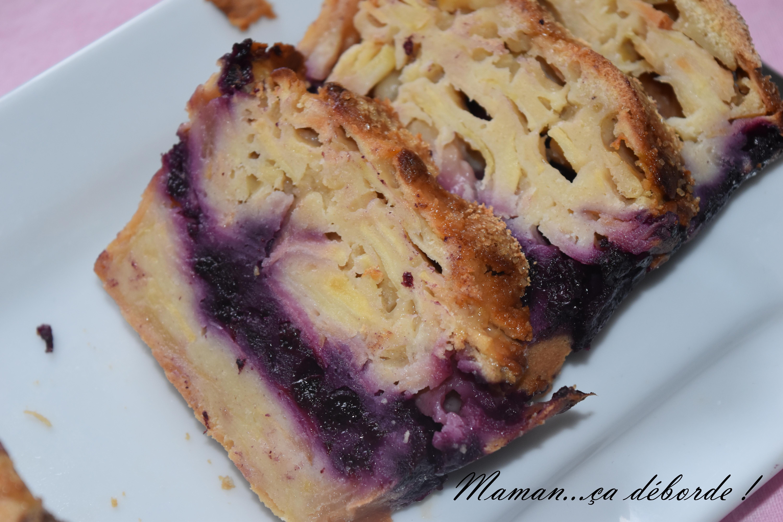 Gâteau invisible pomme myrtille