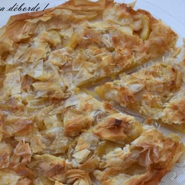 Tarte fine aux pommes et golden syrup