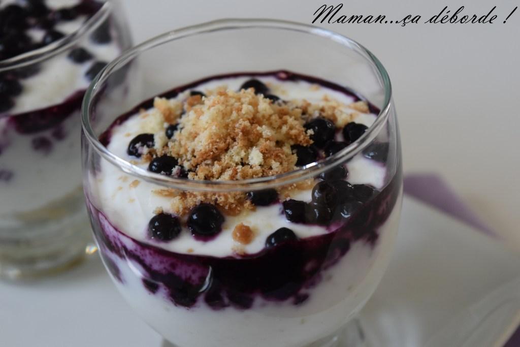 Trifle aux myrtilles