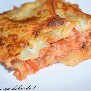 Lasagne à la dinde et aux petits légumes
