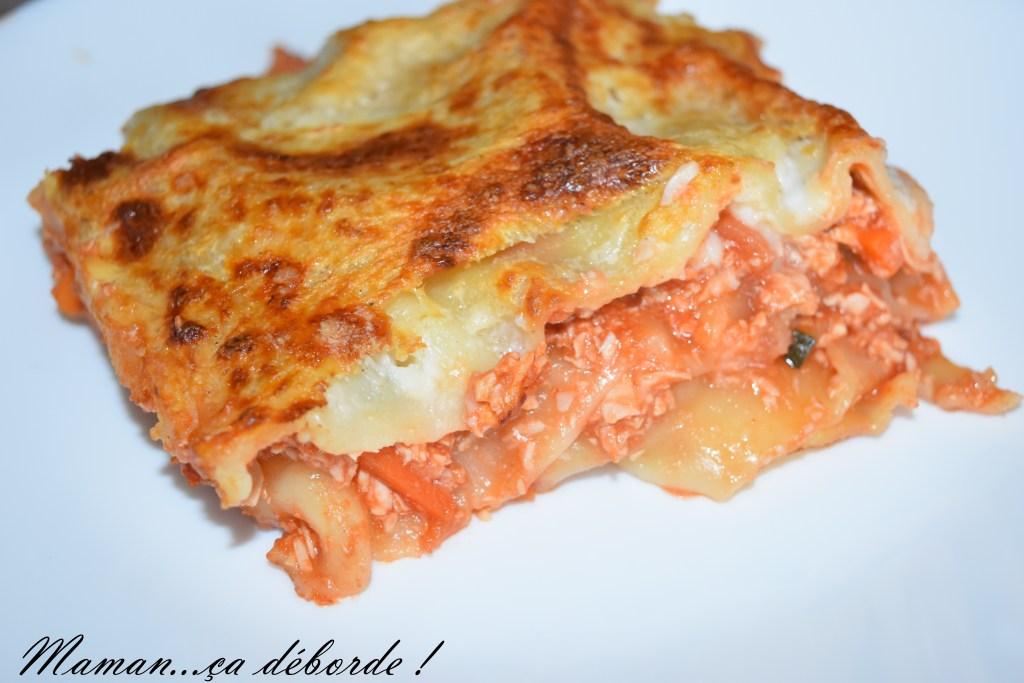 Lasagne dinde et petits légumes