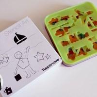 Les jouets de I. #6: Les empreintes Stencil Art Tupperware