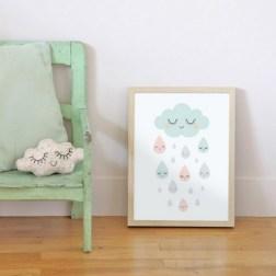 Affiche nuage et pluie Zü