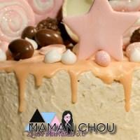Recette du layer cake Kinder Bueno White
