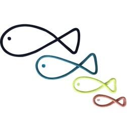 Déco murale 4 poissons en tricotin Charlie & June