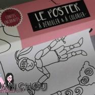 Le poster à colorier Agent Paper