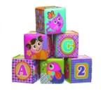 6 cubes souples Playgro