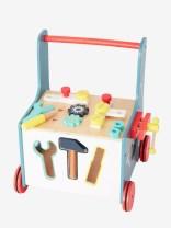 Chariot établi avec outils en bois