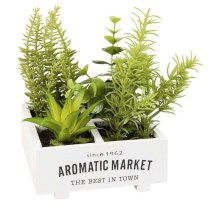 Herbier artificiel en pot