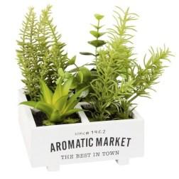 Herbier artificiel en pot
