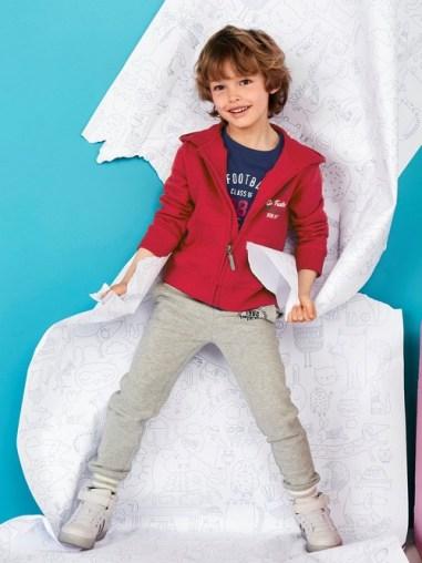 Pantalon de sport garçon en molleton - gris chiné