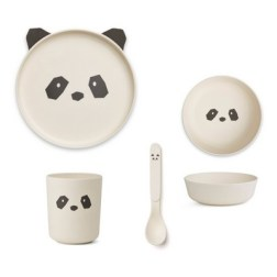 Set vaisselle en bambou Panda Liewood