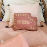 Annabel Kern Coussin Petit Biscuit en coton sergé glitter Terracotta