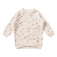 Munsterkids Sweat Etoiles Glisen Rose poudré