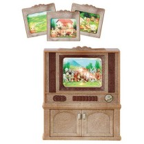 Sylvanian Families set Tv couleur