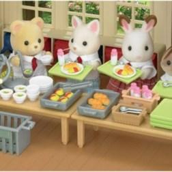 Sylvanian Families set déjeuner scolaire
