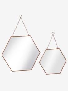 Lot de 2 miroirs enfant hexagones