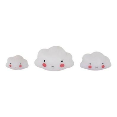 Set de 3 petits nuages Blanc