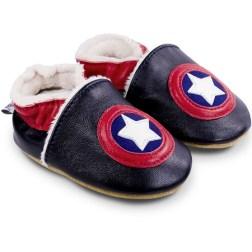 Chaussons cuir souple fourrés Capitaine USA