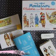 Mon coffret Montessori l'histoire à travers les costumes