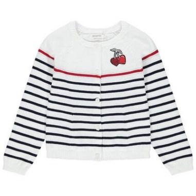 gilet en tricot à rayures